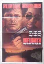 Off Limits, Original Movie Poster, Willem Dafoe, Gregory Hines, '87